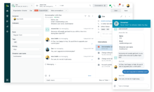 zendesk chat rooms application live interface